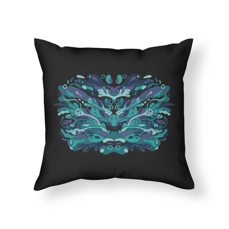 Rorschach Test Art Home Throw Pillow by Jason Castillo Illustration