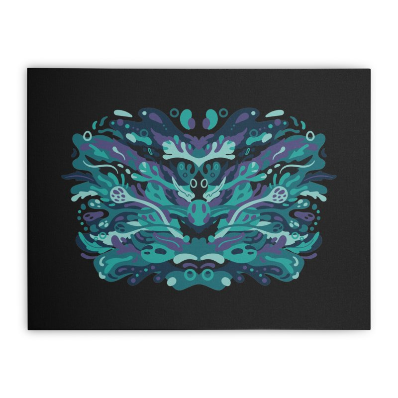 Rorschach Test Art Home Stretched Canvas by Jason Castillo Illustration
