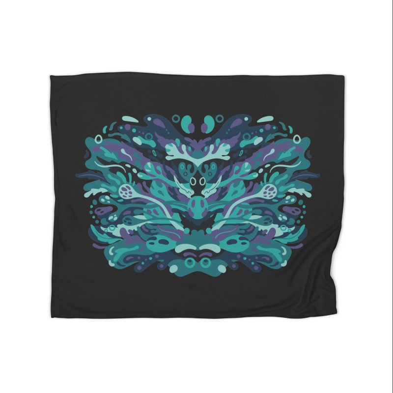 Rorschach Test Art Home Blanket by Jason Castillo Illustration