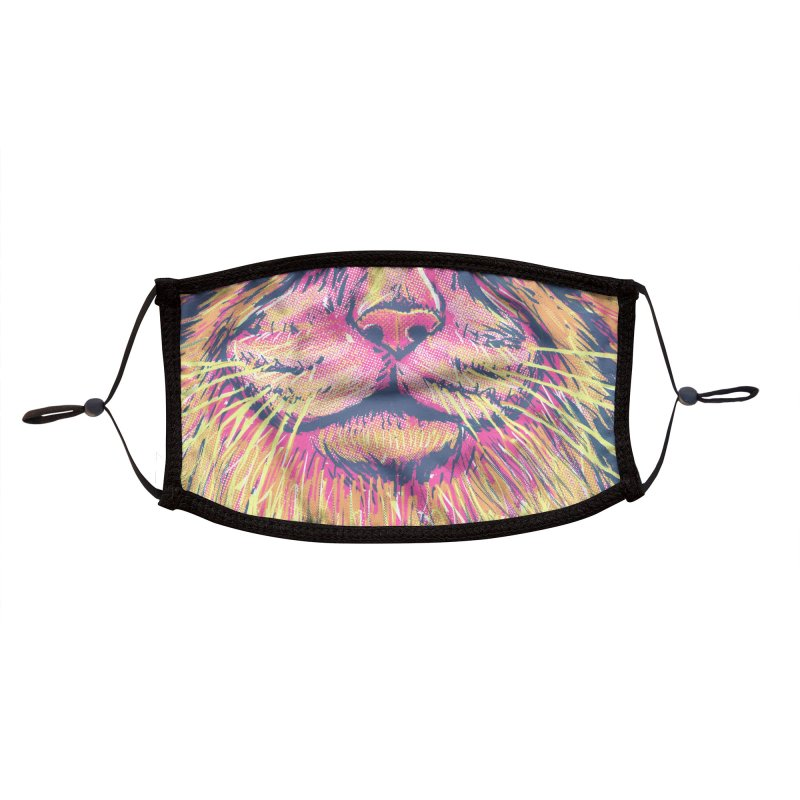 Pallas Cat Accessories Face Mask by Jason Castillo Illustration