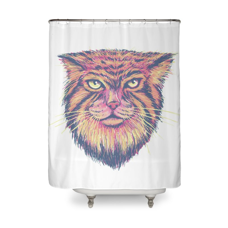 Pallas Cat Home Shower Curtain by Jason Castillo Illustration