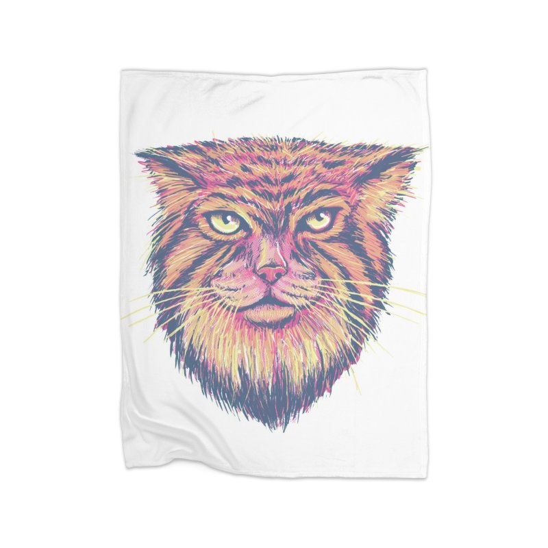 Pallas Cat Home Fleece Blanket Blanket by Jason Castillo Illustration