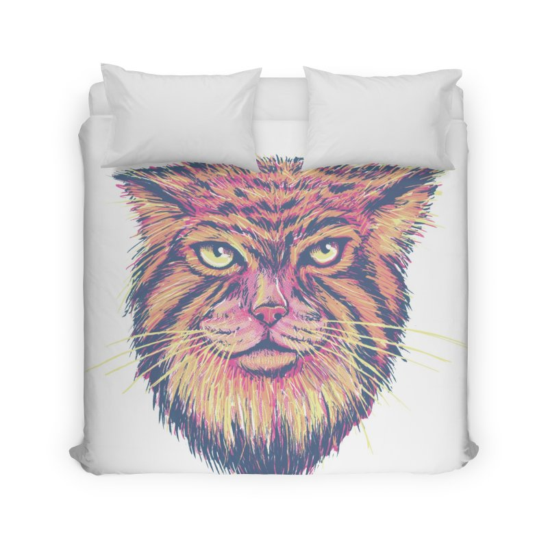 Pallas Cat Home Duvet by Jason Castillo Illustration