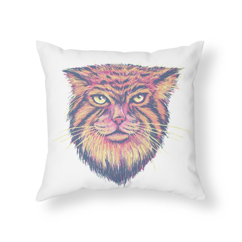 Pallas Cat Home Throw Pillow by Jason Castillo Illustration