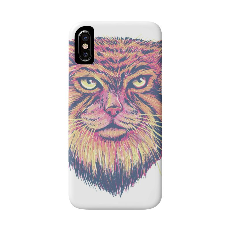 Pallas Cat Accessories Phone Case by Jason Castillo Illustration