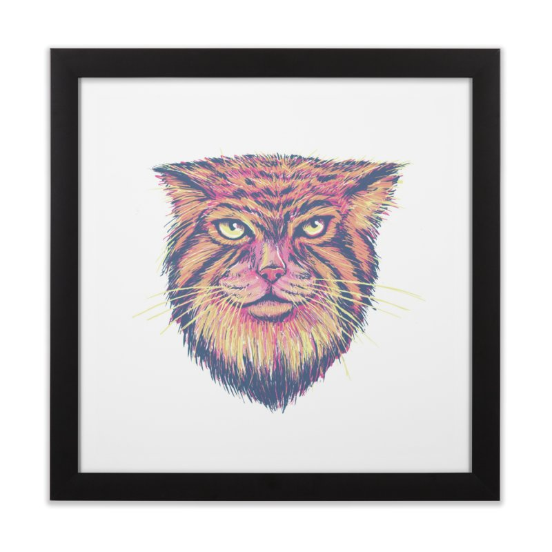 Pallas Cat Home Framed Fine Art Print by Jason Castillo Illustration