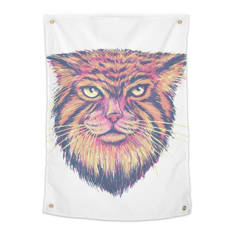 Pallas Cat Home Tapestry by Jason Castillo Illustration