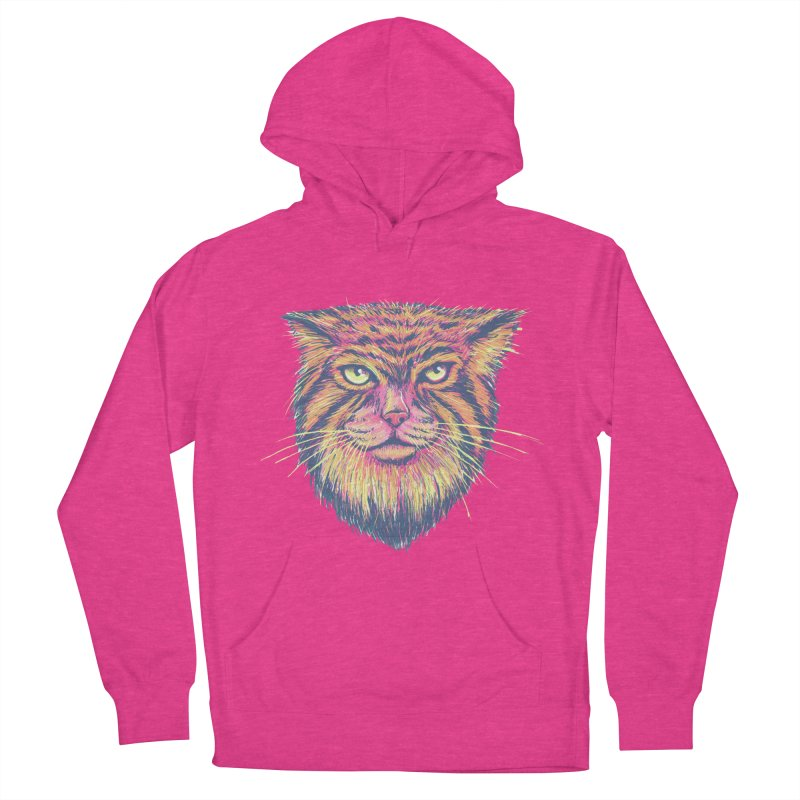 Pallas Cat Women's French Terry Pullover Hoody by Jason Castillo Illustration