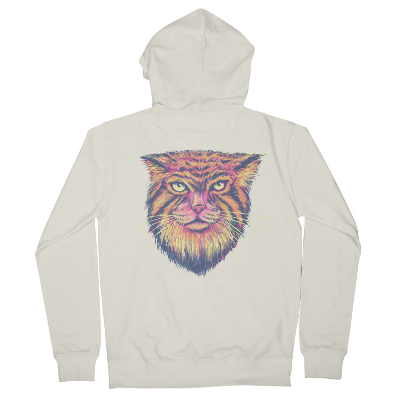 Pallas Cat Men's French Terry Zip-Up Hoody by Jason Castillo Illustration