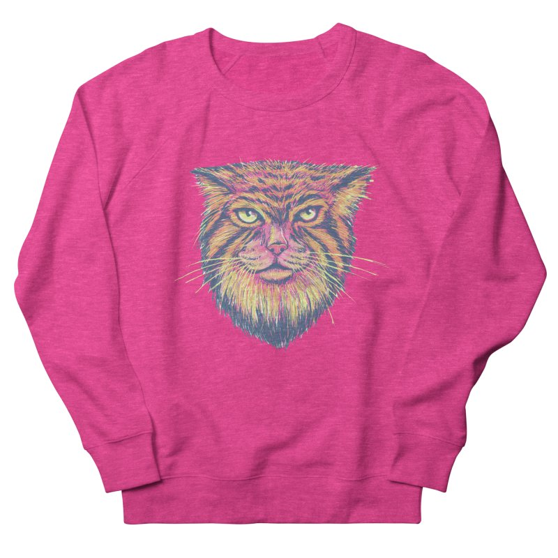 Pallas Cat Men's French Terry Sweatshirt by Jason Castillo Illustration