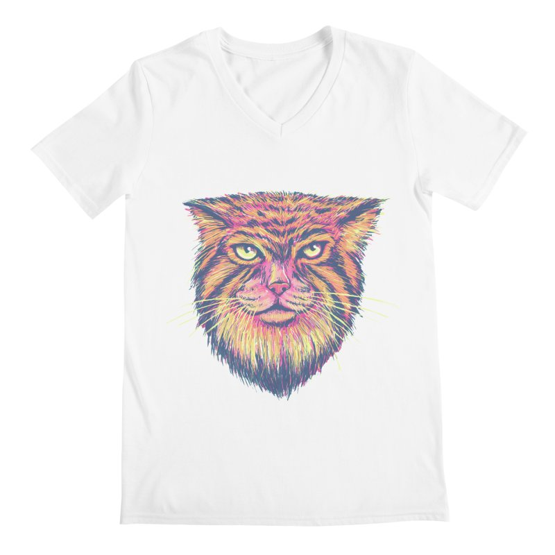 Pallas Cat Men's Regular V-Neck by Jason Castillo Illustration