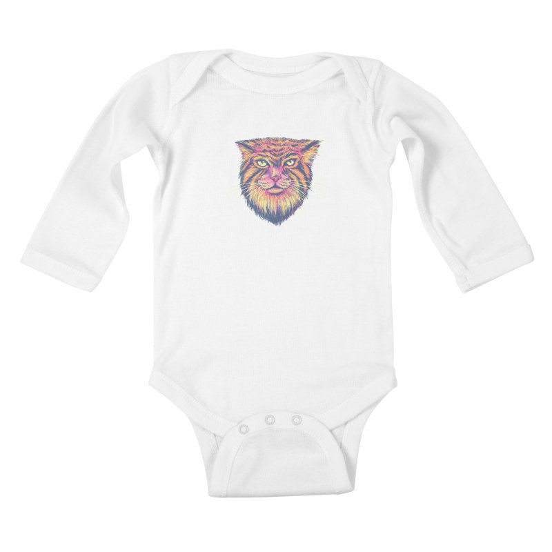 Pallas Cat Kids Baby Longsleeve Bodysuit by Jason Castillo Illustration