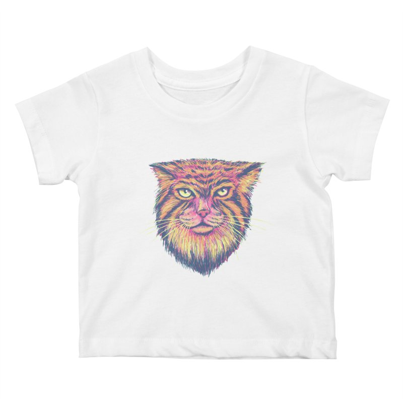 Pallas Cat Kids Baby T-Shirt by Jason Castillo Illustration