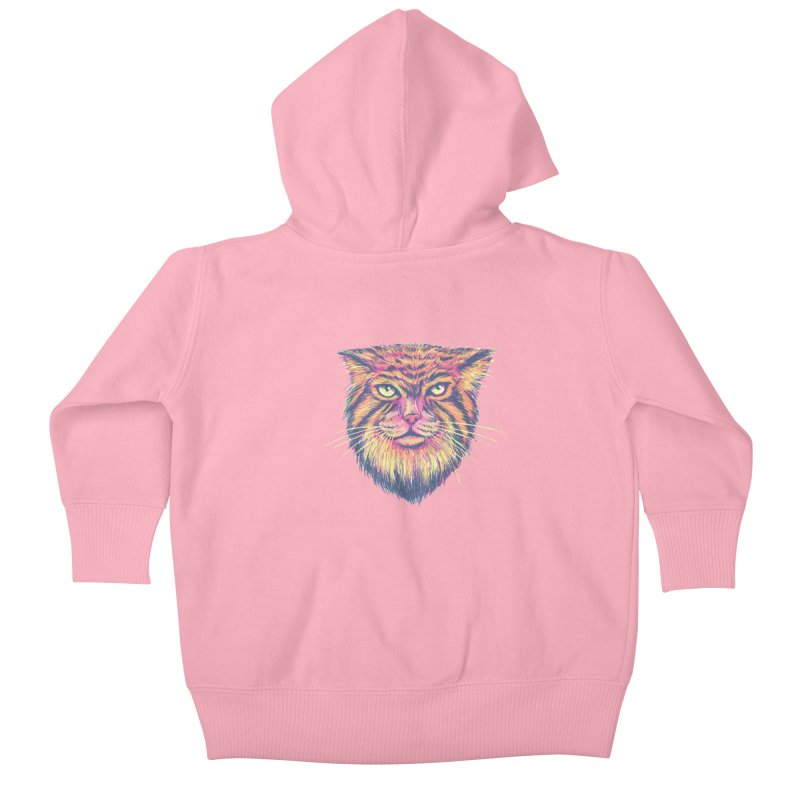 Pallas Cat Kids Baby Zip-Up Hoody by Jason Castillo Illustration
