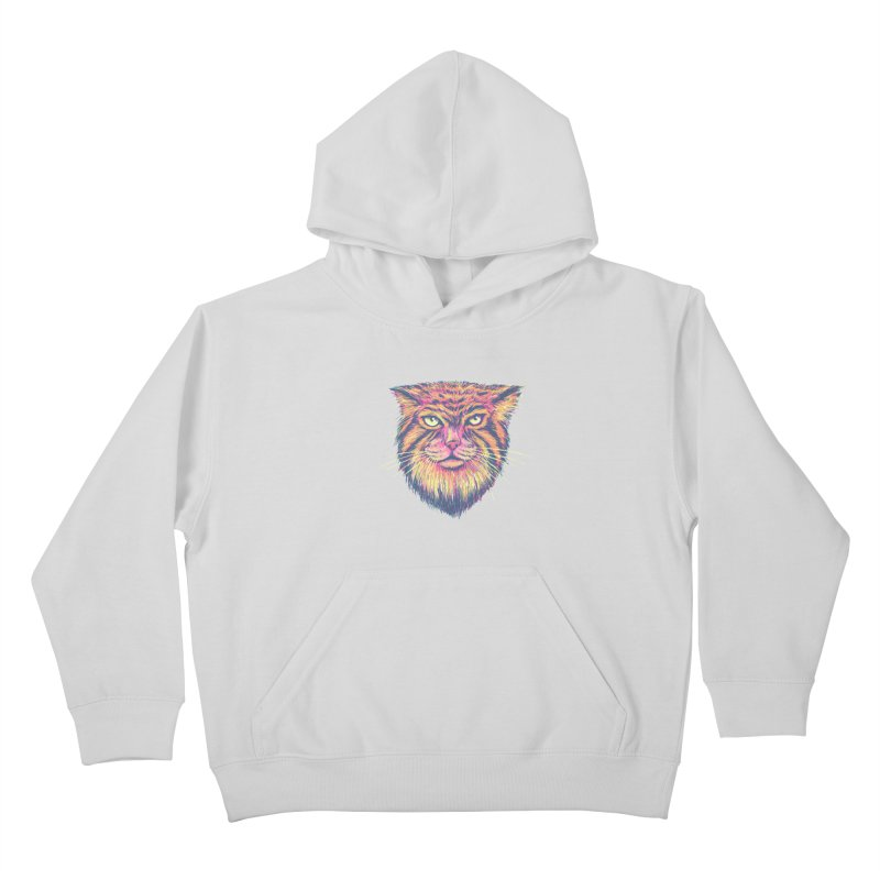 Pallas Cat Kids Pullover Hoody by Jason Castillo Illustration