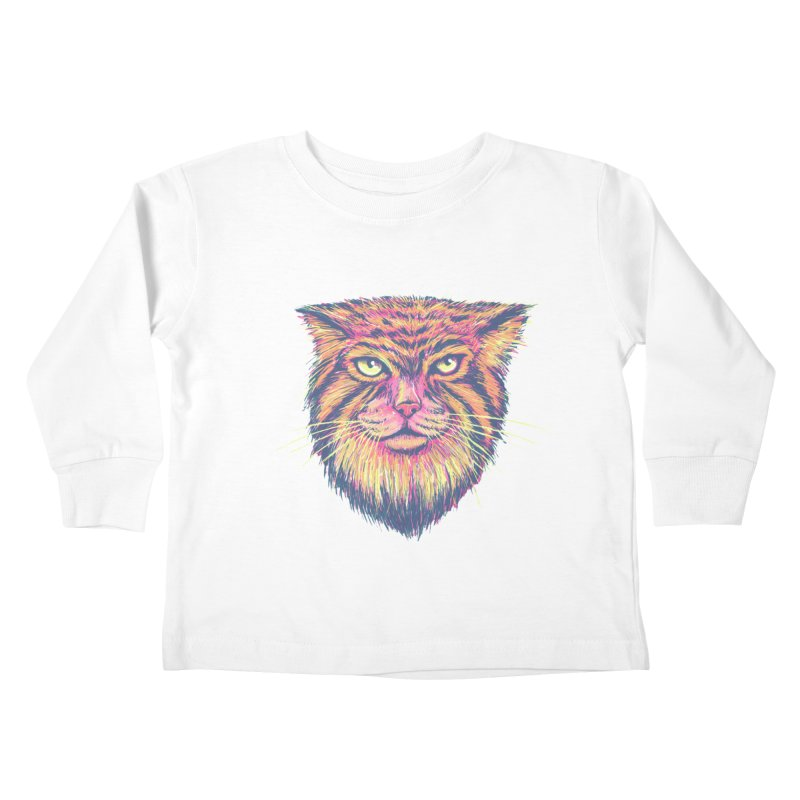 Pallas Cat Kids Toddler Longsleeve T-Shirt by Jason Castillo Illustration