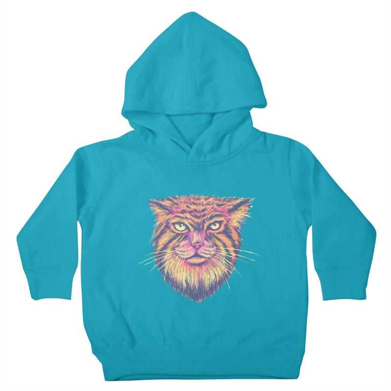 Pallas Cat Kids Toddler Pullover Hoody by Jason Castillo Illustration