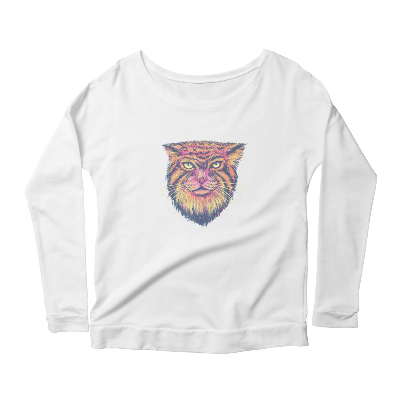 Pallas Cat Women's Longsleeve Scoopneck  by Jason Castillo Illustration