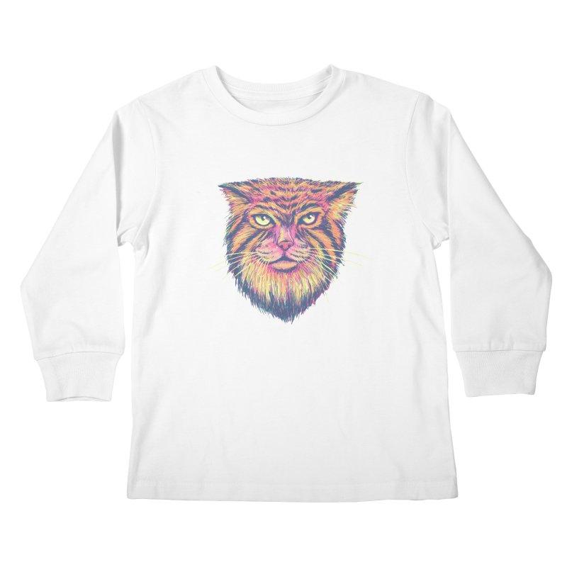 Pallas Cat Kids Longsleeve T-Shirt by Jason Castillo Illustration