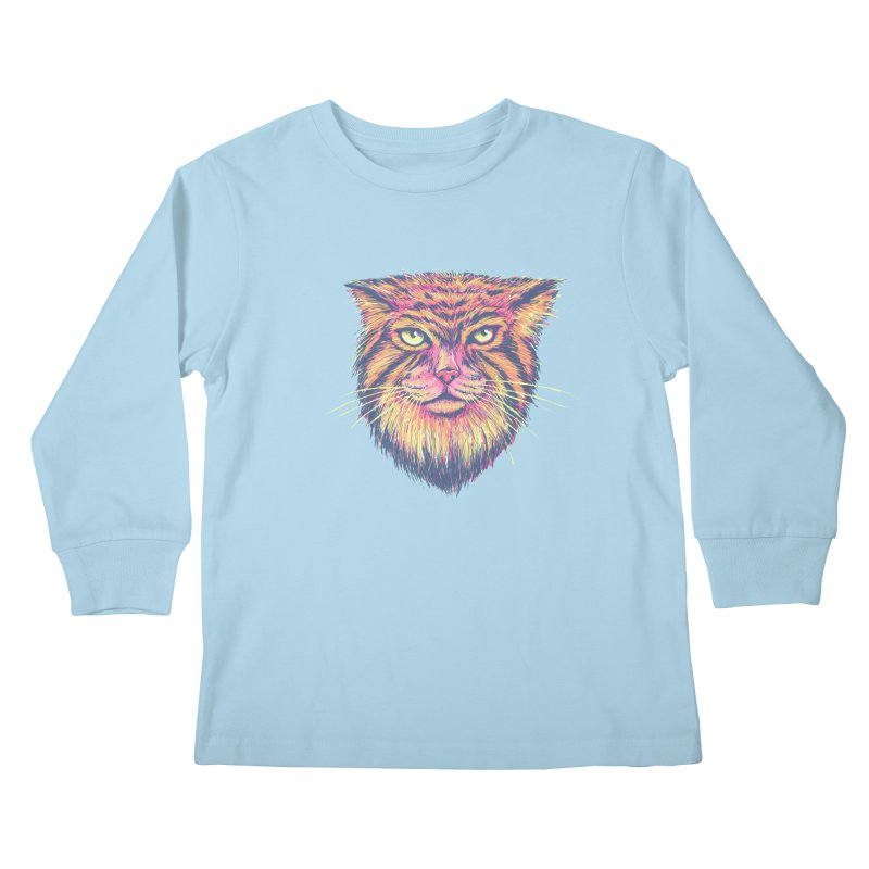 Pallas Cat Kids Longsleeve T-Shirt by Jason Castillo Illustration