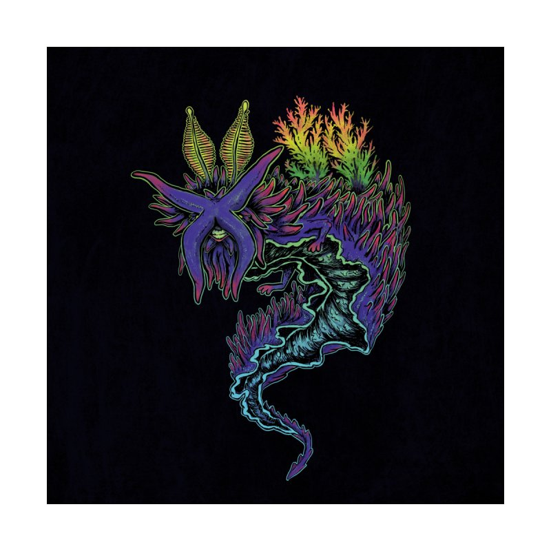 Sea Slug Shaman Home Shower Curtain by Jason Castillo Illustration