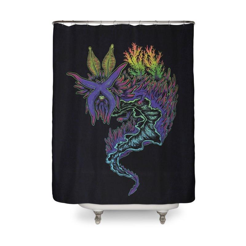 Sea Slug Shaman Home Shower Curtain by Jason Castillo Illustration