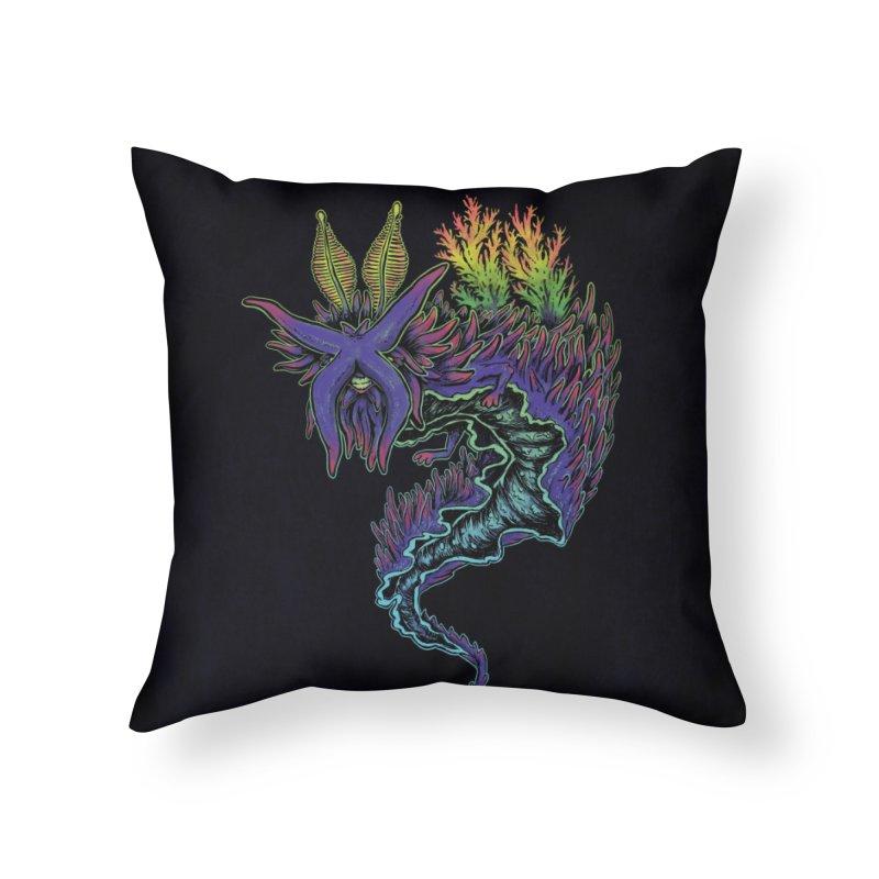 Sea Slug Shaman Home Throw Pillow by Jason Castillo Illustration