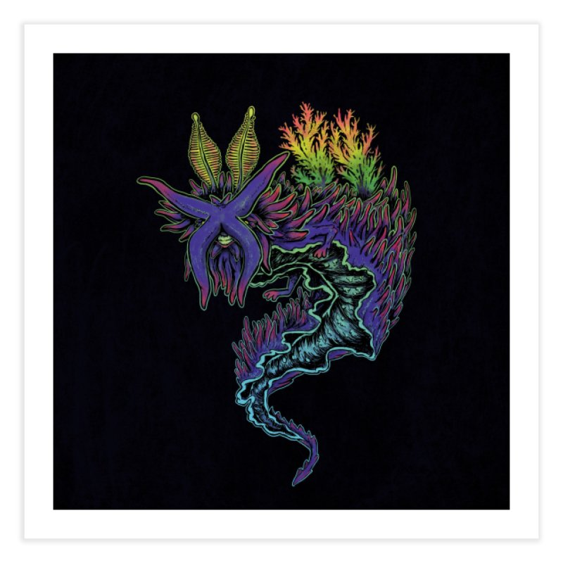Sea Slug Shaman Home Fine Art Print by Jason Castillo Illustration