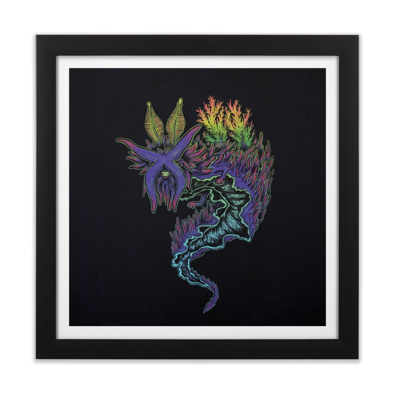 Sea Slug Shaman Home Framed Fine Art Print by Jason Castillo Illustration