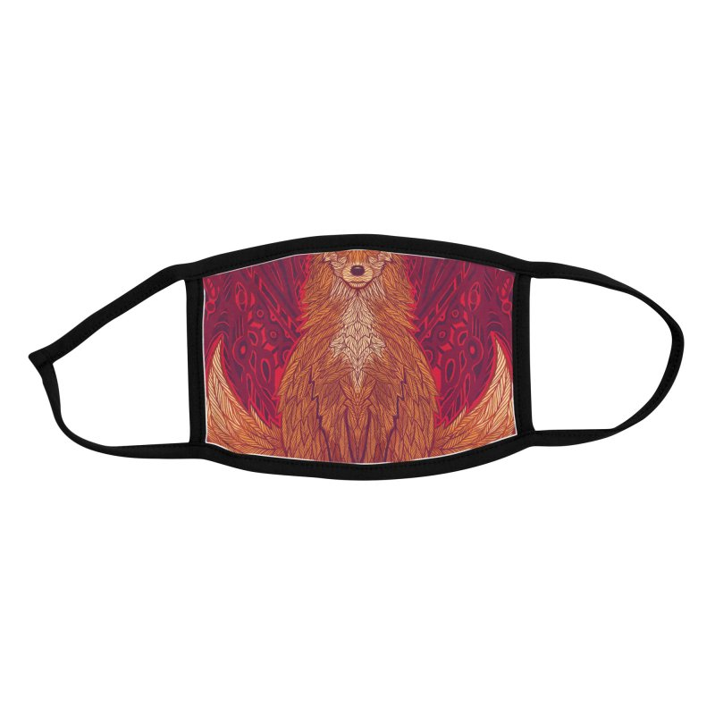 The Red Fox Spirit Accessories Face Mask by Jason Castillo Illustration