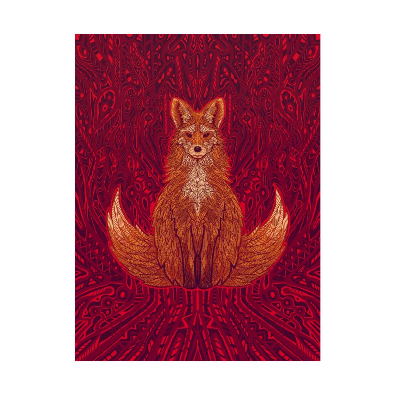 The Red Fox Spirit Accessories Bag by Jason Castillo Illustration