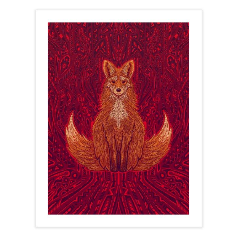 The Red Fox Spirit Home Fine Art Print by Jason Castillo Illustration
