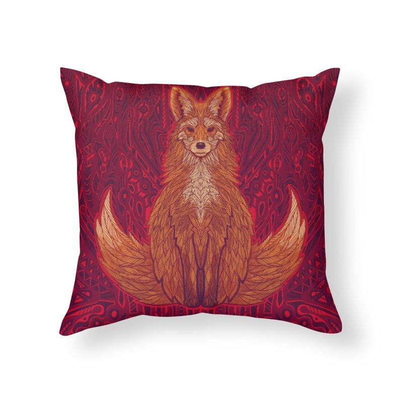 The Red Fox Spirit Home Throw Pillow by Jason Castillo Illustration