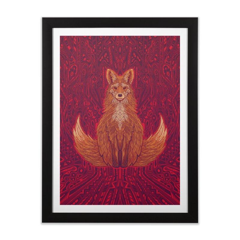 The Red Fox Spirit Home Framed Fine Art Print by Jason Castillo Illustration