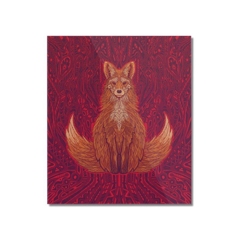 The Red Fox Spirit Home Mounted Acrylic Print by Jason Castillo Illustration