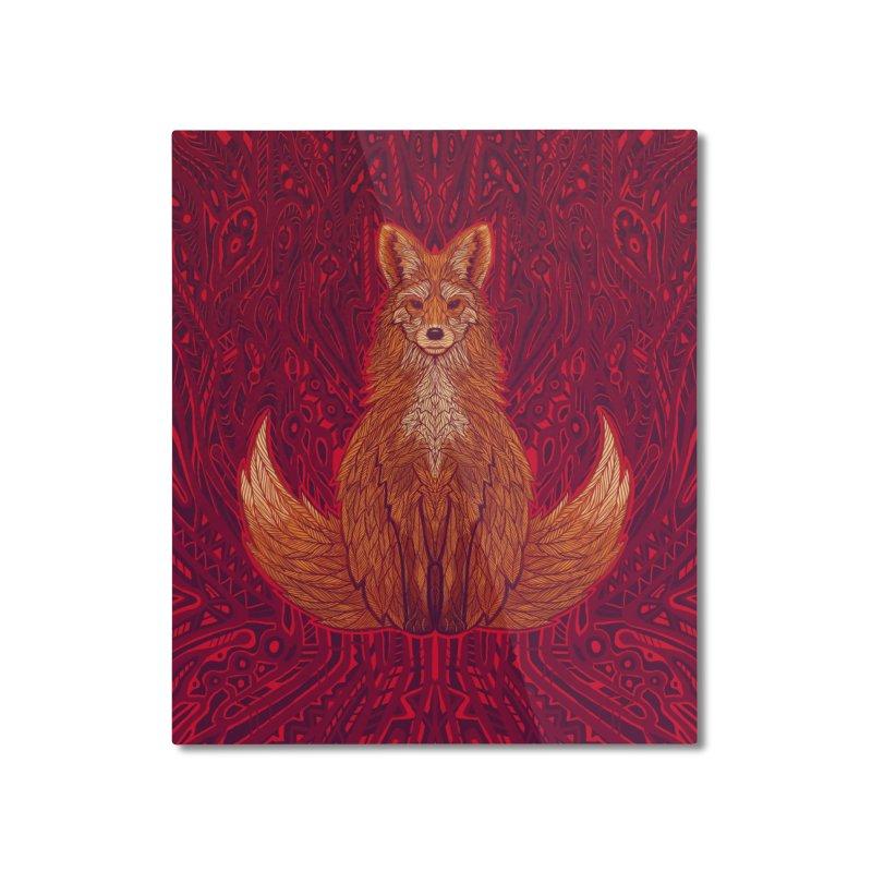 The Red Fox Spirit Home Mounted Aluminum Print by Jason Castillo Illustration