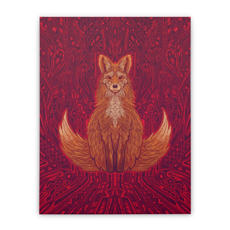 The Red Fox Spirit Home Stretched Canvas by Jason Castillo Illustration