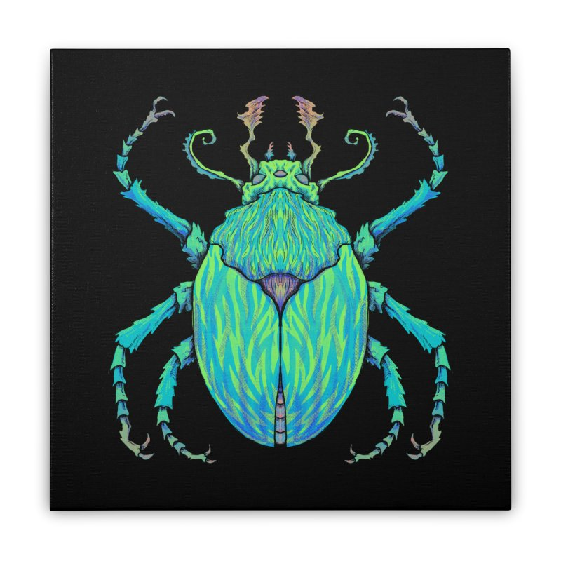 Unkown Species 2 Home Stretched Canvas by Jason Castillo Illustration