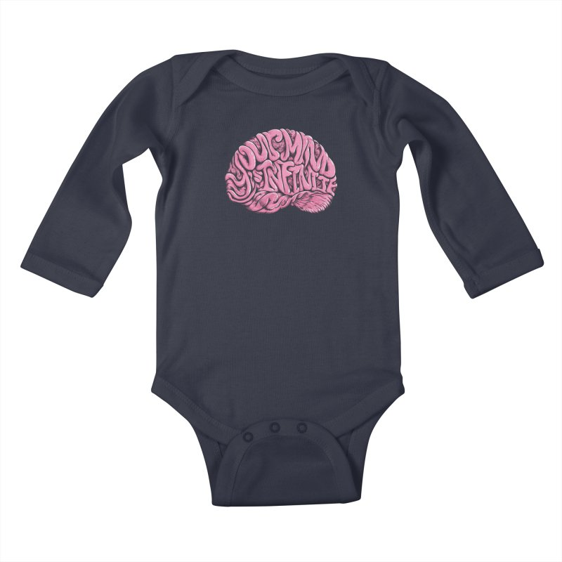 Your Mind is Infinite Kids Baby Longsleeve Bodysuit by Jason Castillo Illustration