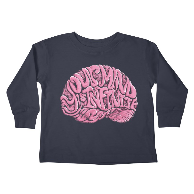 Your Mind is Infinite Kids Toddler Longsleeve T-Shirt by Jason Castillo Illustration