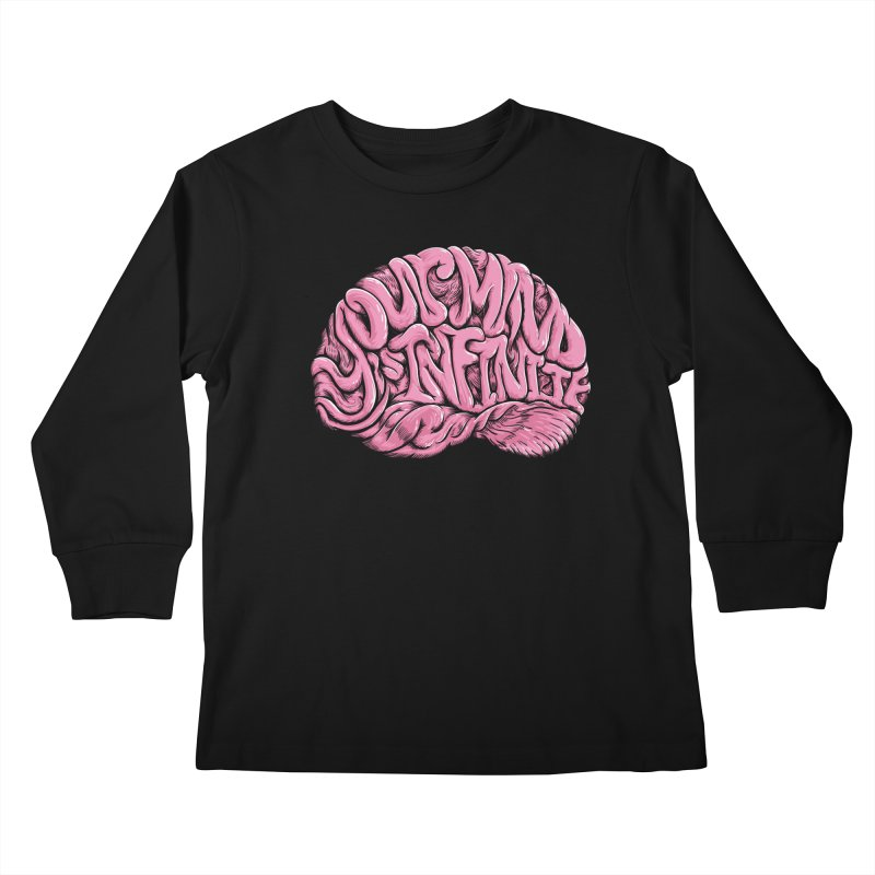 Your Mind is Infinite Kids Longsleeve T-Shirt by Jason Castillo Illustration