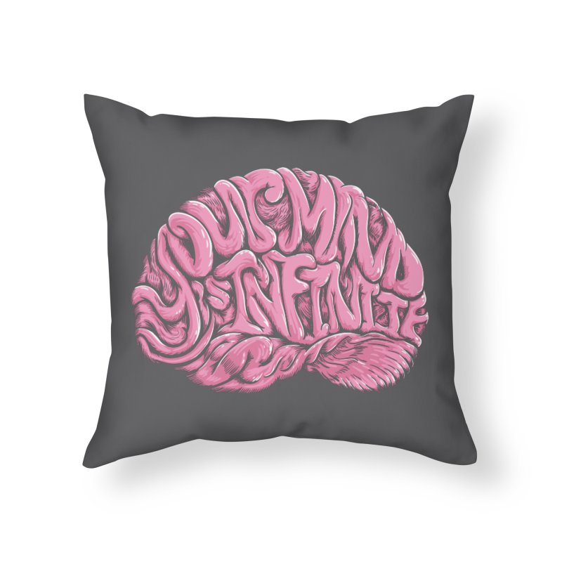 Your Mind is Infinite Home Throw Pillow by Jason Castillo Illustration