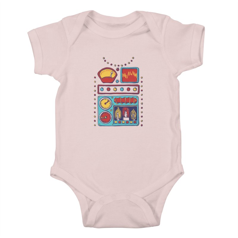 Retrobot 2000 Kids Baby Bodysuit by Jason Castillo Illustration