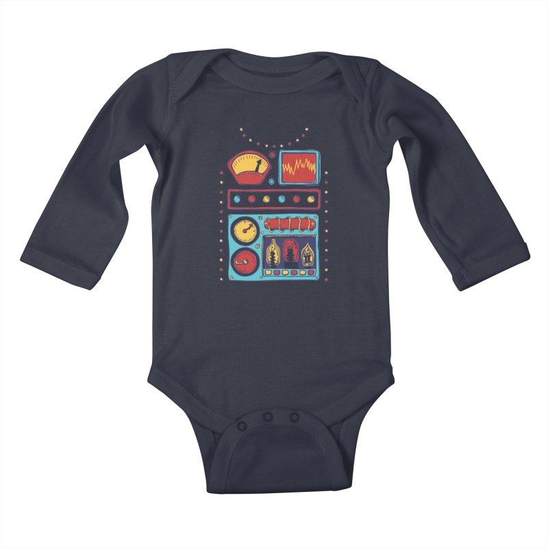 Retrobot 2000 Kids Baby Longsleeve Bodysuit by Jason Castillo Illustration