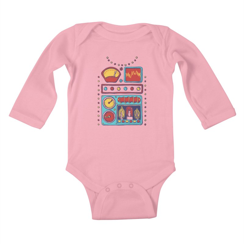 Retrobot 2000 Kids Baby Longsleeve Bodysuit by Jason Castillo Illustration