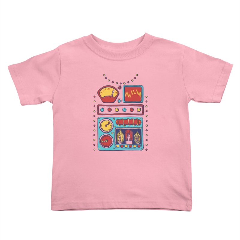 Retrobot 2000 Kids Toddler T-Shirt by Jason Castillo Illustration