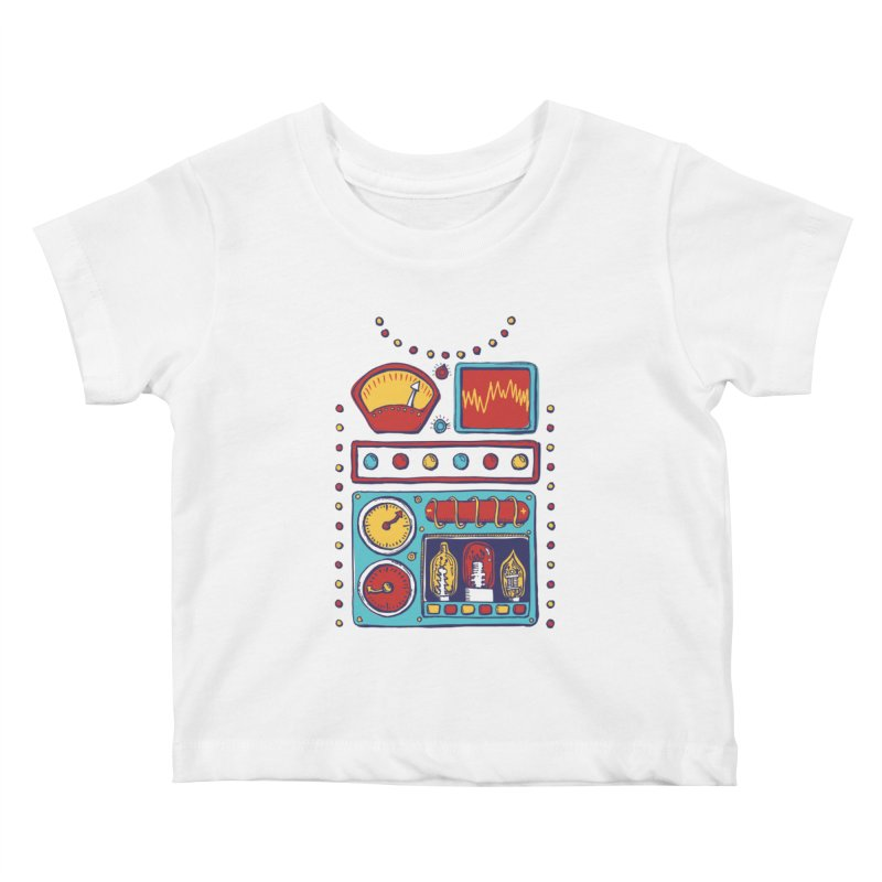 Retrobot 2000 Kids Baby T-Shirt by Jason Castillo Illustration