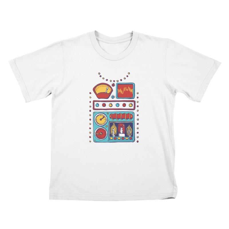 Retrobot 2000 Kids T-Shirt by Jason Castillo Illustration