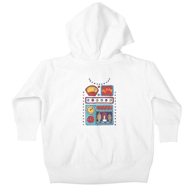 Retrobot 2000 Kids Baby Zip-Up Hoody by Jason Castillo Illustration