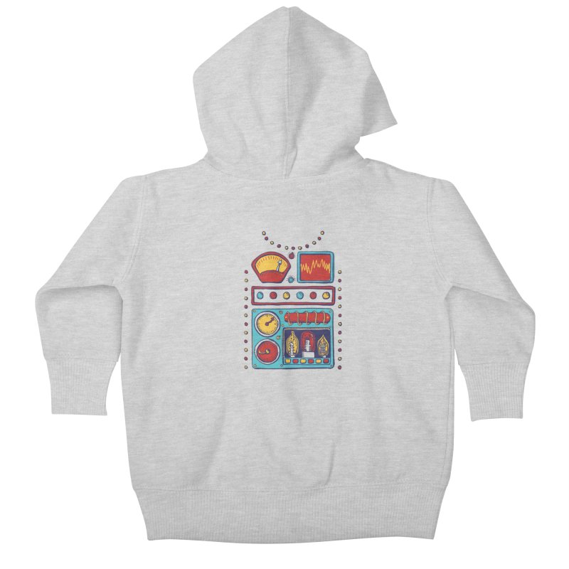 Retrobot 2000 Kids Baby Zip-Up Hoody by Jason Castillo Illustration